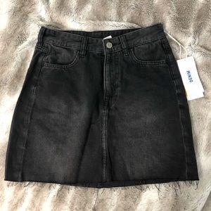 NWT H&M Black Denim Skirt 4